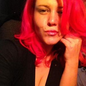 Pink Hair Cleavage For Twitter